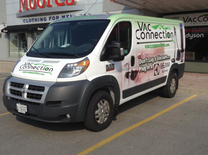 We also do Built in Vacuum installations and vacuum service. Look for our service van driving around Burlington and Oakville - The Vac Connection