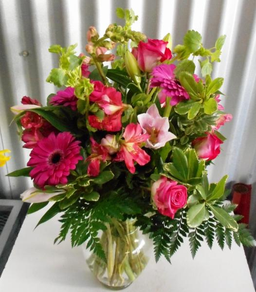 abbotsford florist-buckets flowers-baby  girl arrangement to the hospital - Buckets Fresh Flower Market
