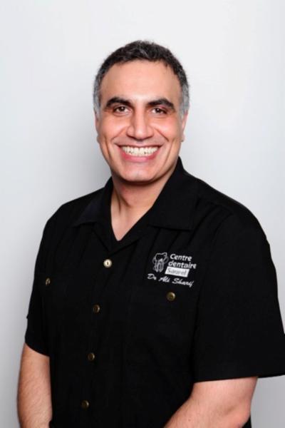 DR. ALI SHARIF DMD     DENTISTE GÉNÉRALISTE     PROPRIÉTAIRE - Centre Dentaire Saurel