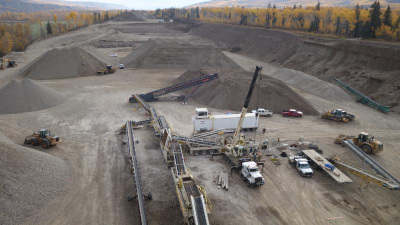 Crushing at Taylor, BC pit