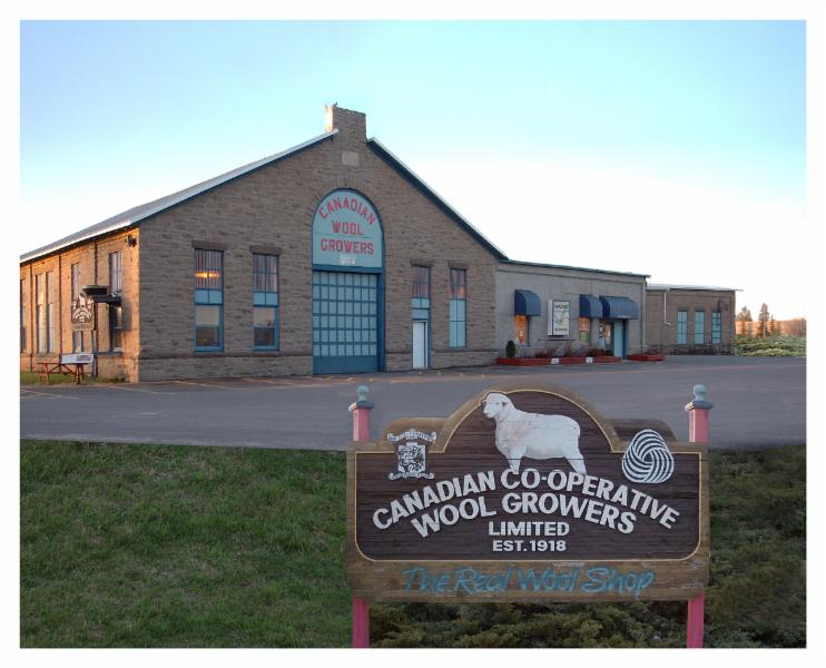 Main building for the Canadian Co-operative Wool Growers.