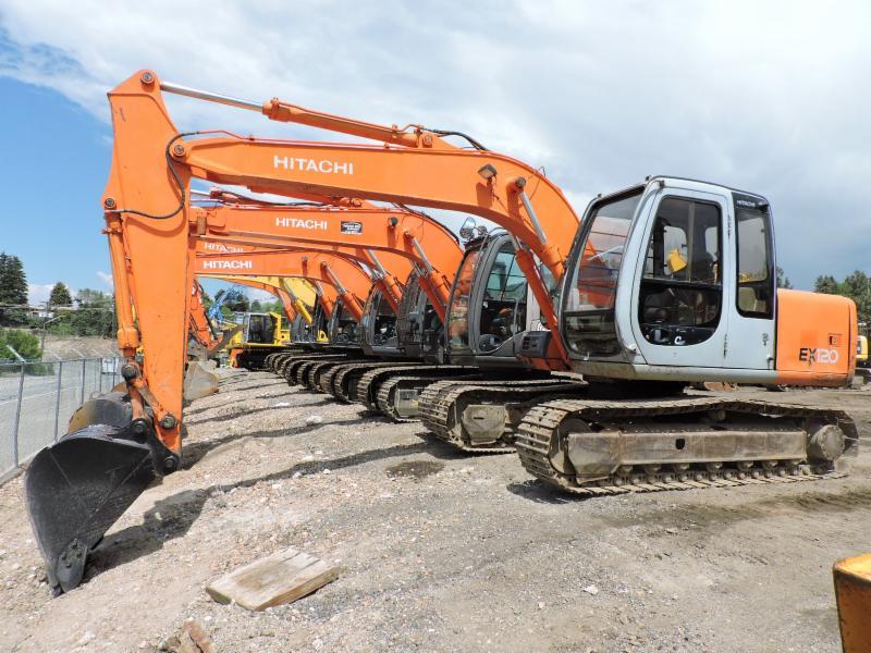 Our Hitachi Excavator Line up!