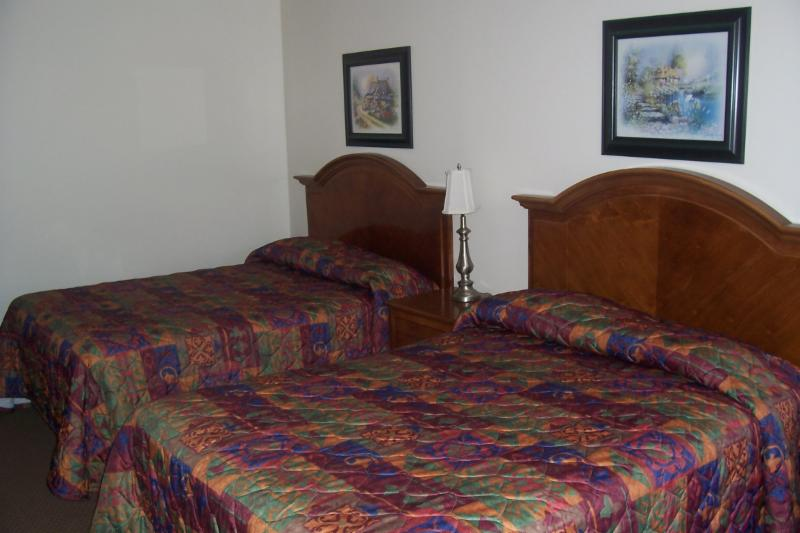 Modern Double size beds with Sealy Mattresses. Very clean rooms