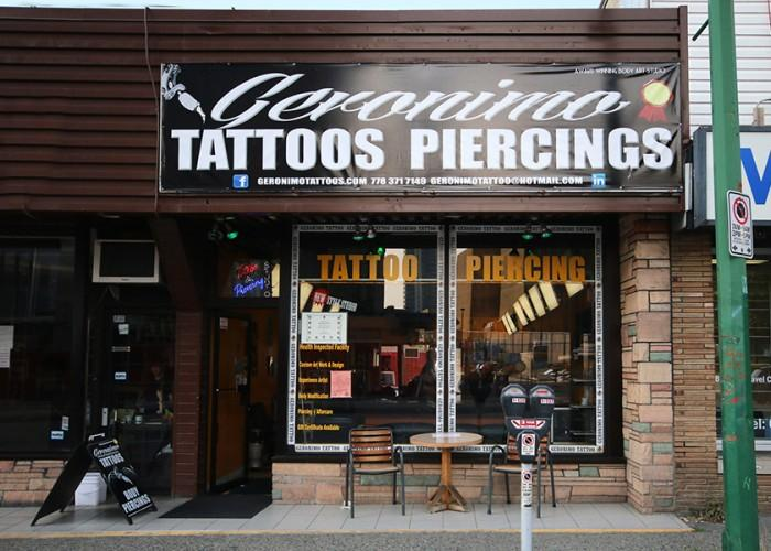 Geronimo tattoo burnaby bc 4641 kingsway canpages for Tattoo shops etobicoke