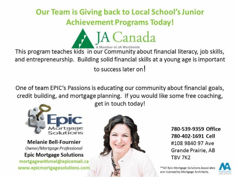 Melanie is a proud Junior Achievement board member and presenter to our local schools.