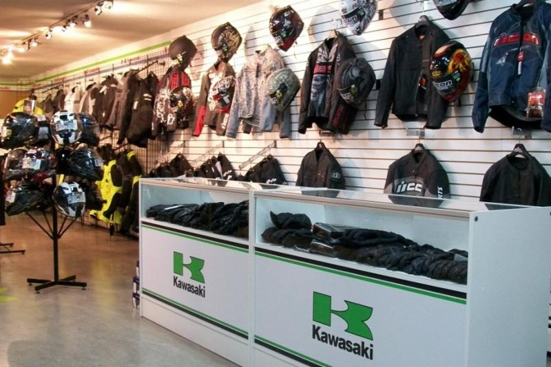 Accessories Department Showroom - Burnaby Kawasaki