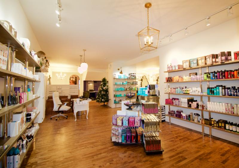 We offer solutions to all your beauty needs. Let one of our knowledge staff guide you through our vast selection of professional hair products, skincare, makeup and hot tools.  We carry brands such as Moroccanoil, Jane Iredale & Eminence organics.
