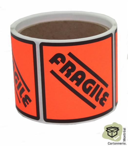 Autocollants fragile - Cartonnerie Montréal Inc