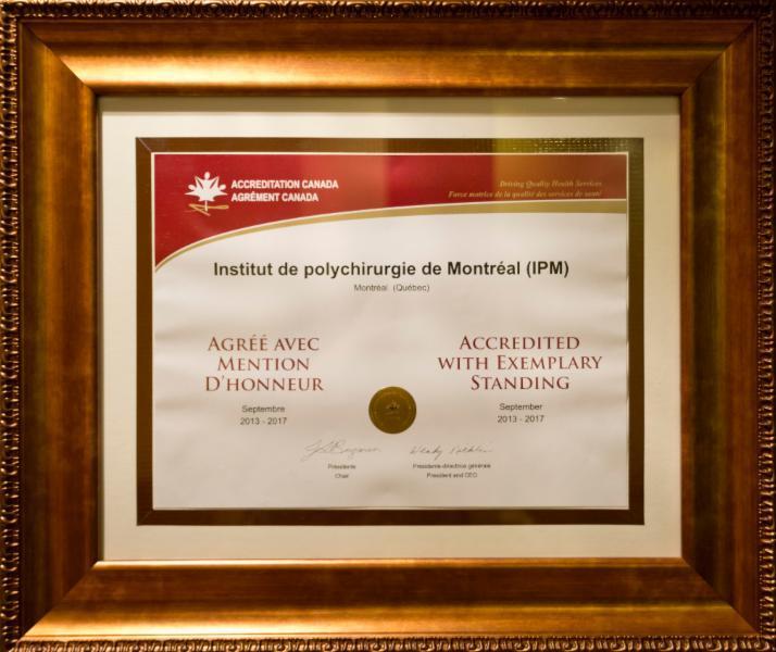 Certificat d'Accréditation Canada