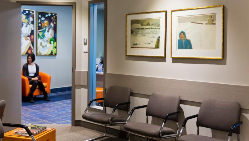 Salle d'attente, Centre de Chirurgie Plastique de L'iles des soeurs