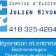 Service Électroménagers Julien Hivon - Réparation d'appareils électroménagers - 418-325-4264