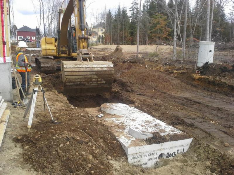 Installation septique, Bionest , Écoflo , enviro-septic - G L P Paysagiste inc
