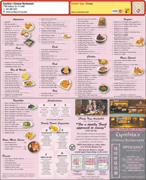 Cynthia's Chinese Restaurant - Photo 3
