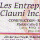 Entreprises Clauni Inc - General Contractors - 418-882-5228