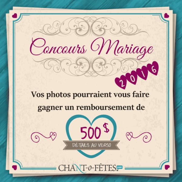 Voir les détails et règlements sur www.chantofetes.com/concours.aspx - Agence Chant-O-Fêtes Inc