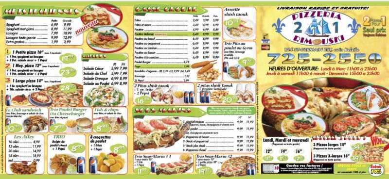 Restaurant Pizzeria Rimouski - Photo 1