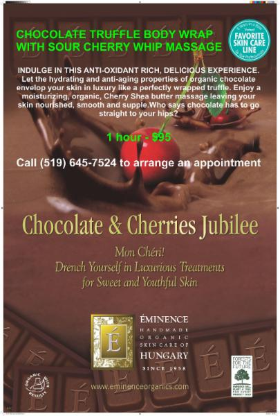 Eminence Skincare-Chocolate Truffle Body Wrap & Sour Cherry Massage