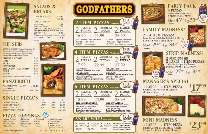 Marlborough Pizza Restaurant Menu