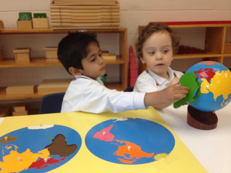 Learning About the Continents - Westbrook Montessori Academy