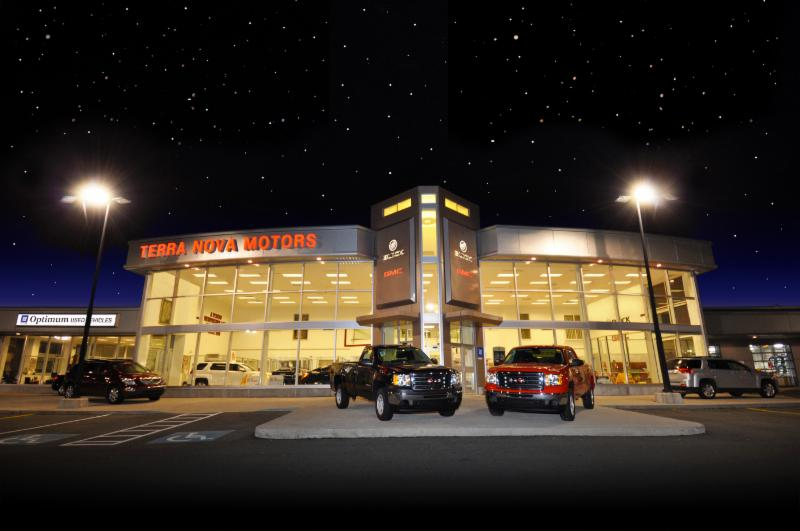 Terra Nova Motors night view - Terra Nova Motors Ltd