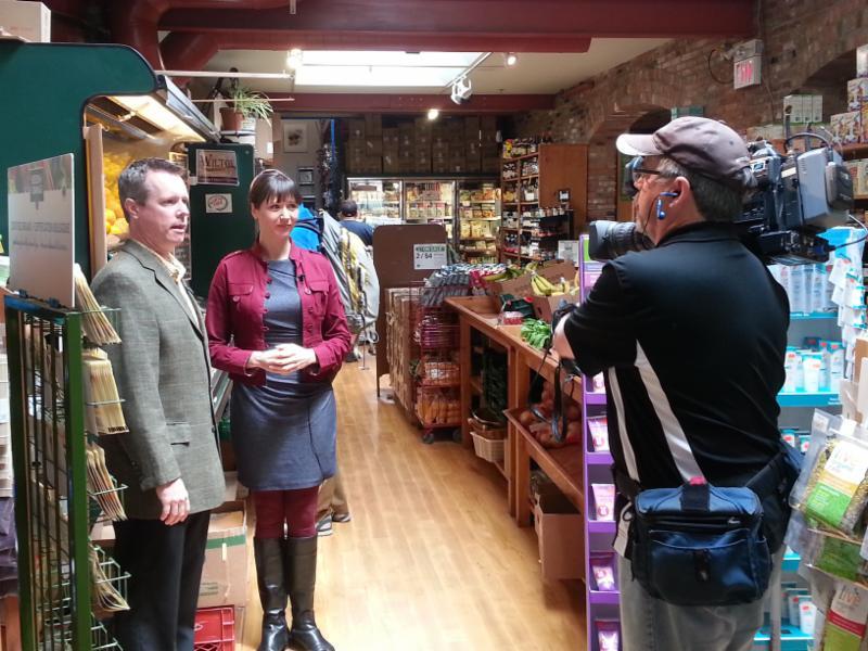 Author Julie Daniluk gets interviewed by CKWS TV.