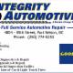 Integrity Automotive - Réparation et entretien d'auto - 250-774-5253