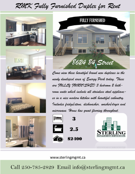 Great Furnished Suites Available