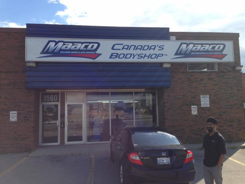 Maaco mississauga auto painting body repair opening for Maaco paint and body