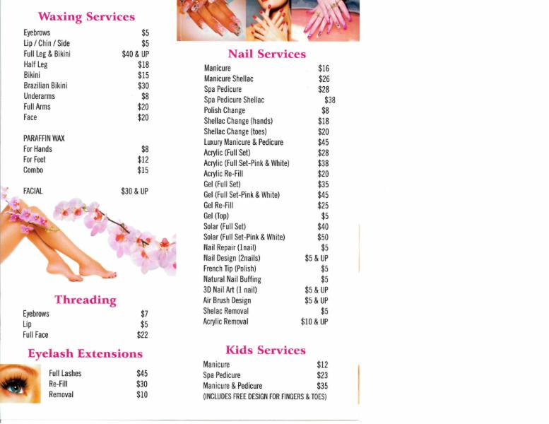 Tl pearl beauty nail salon 102 9380 120 st surrey bc for Acrylic nails salon prices