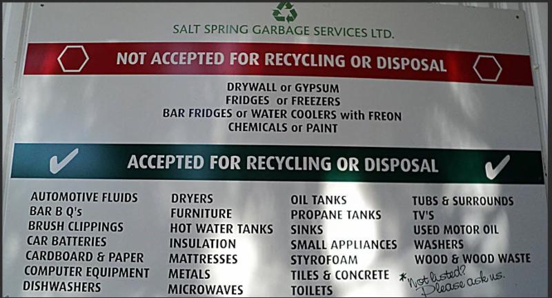 Salt Spring Island Garbage Disposal