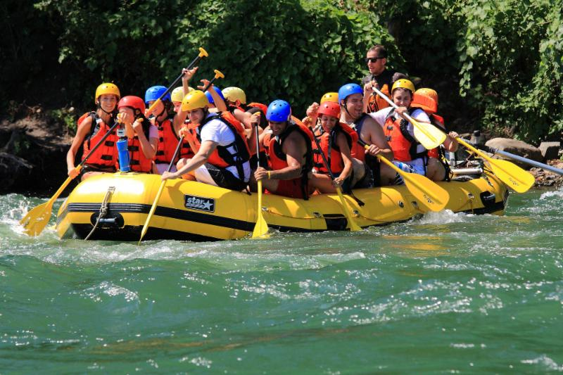 The Lachine rapids, white water rafting