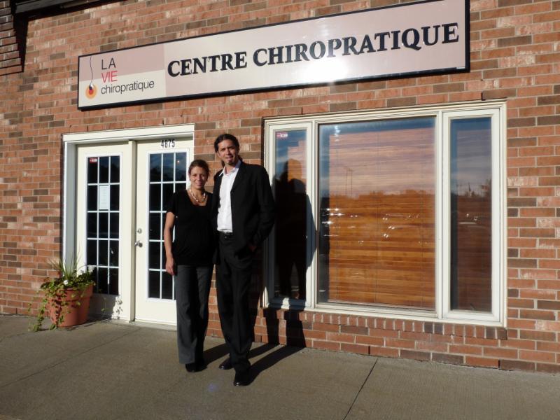 Entrée de la clinique - La Vie Chiropratique
