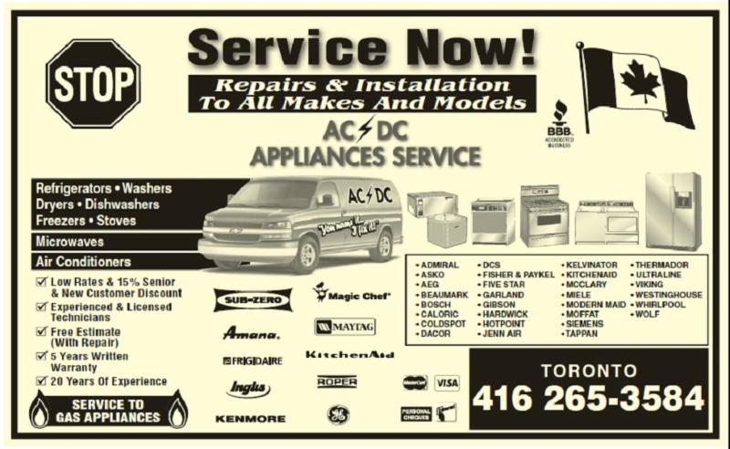 Ac Dc Appliance Service - Photo 1