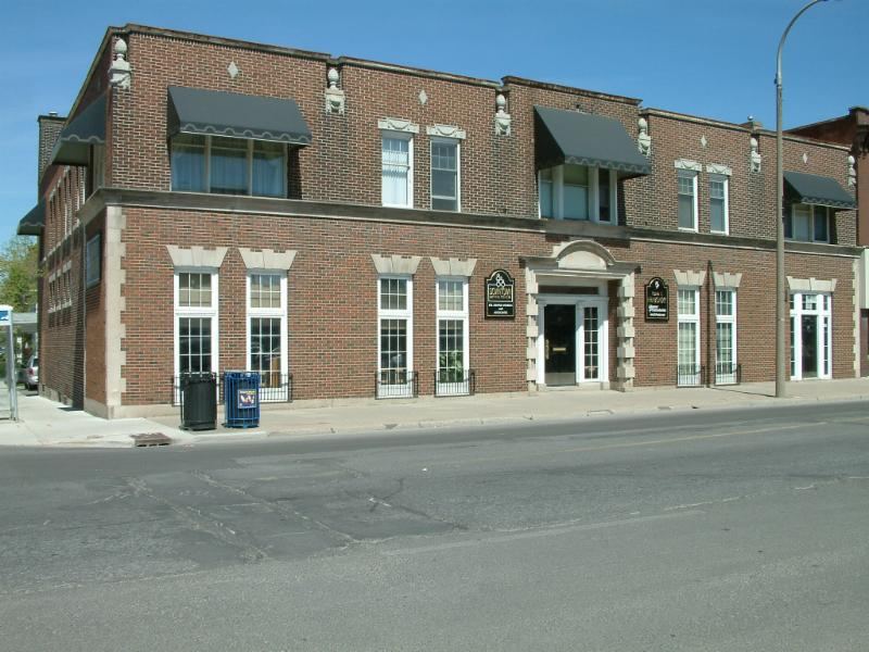 We are located on the corner of St. Paul and Court St.