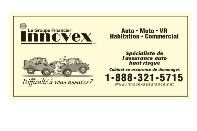 Annonce Auto Haut Risque Assurance - Innovex Assurance-Groupe Financier Innovex Inc