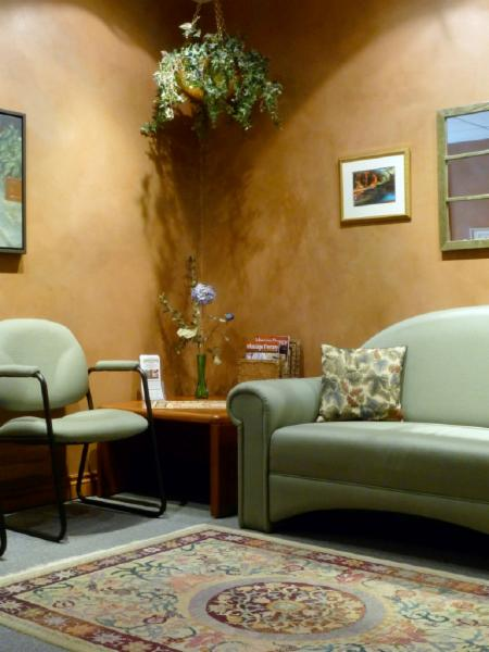 tranquil waiting area - Heart Lake Massage Therapy Clinic