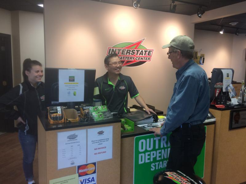 Interstate Batteries Front Counter - Interstate Batteries