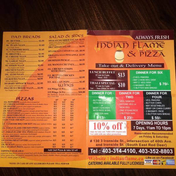 Indian Flame & Pizza Restaurant - Photo 12