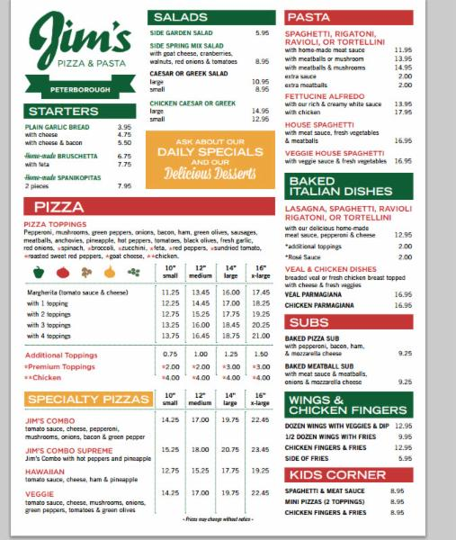 Jim's Pizza - Photo 1