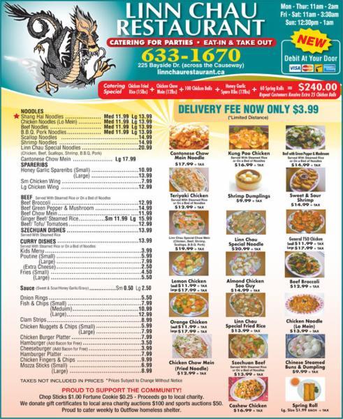 menu linn chau - Linn Chau Restaurant