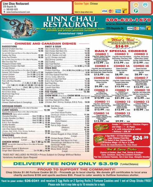 linn chau menu - Linn Chau Restaurant