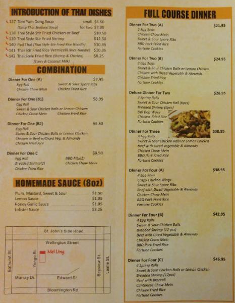 Ling Ling Chinese Food Edmonton