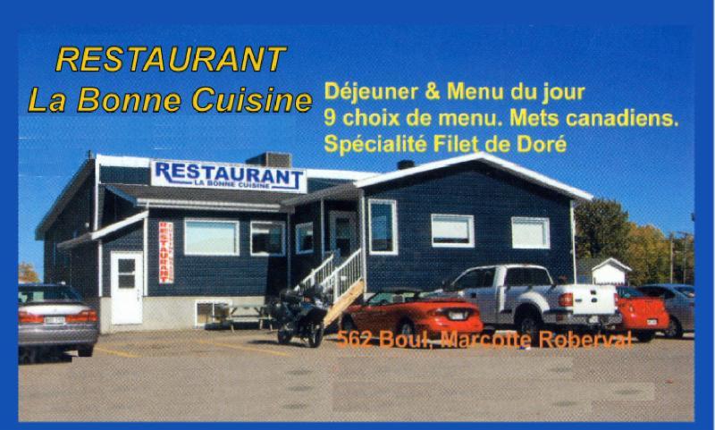 Restaurant la bonne cuisine roberval qc 562 boul for La bonne cuisine