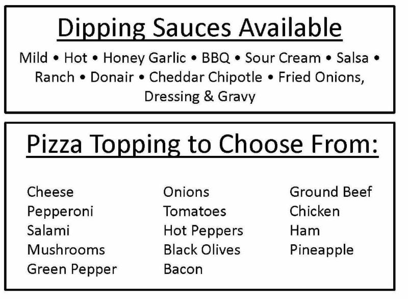 Dipping Sauces & Pizza Toppings - Pizza Pros
