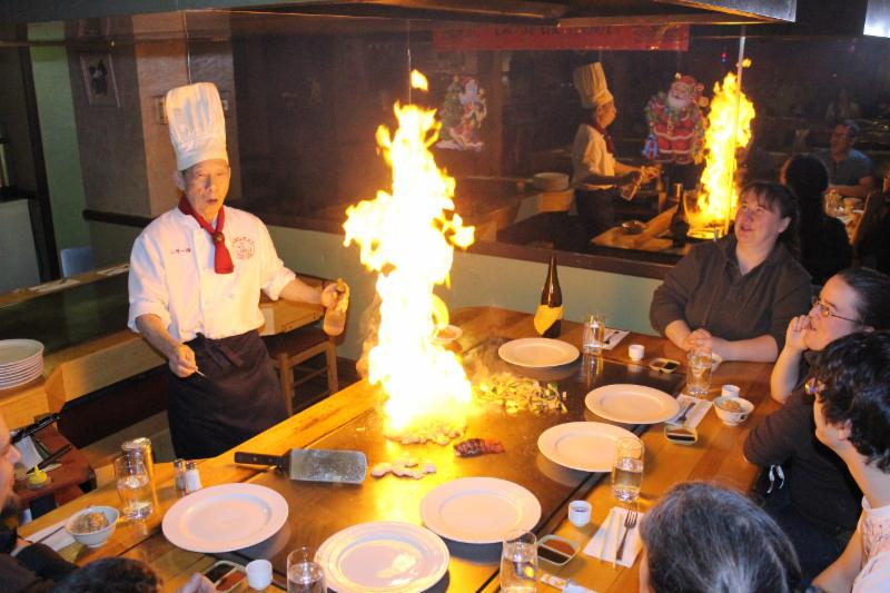Cuisson sur table chauffante - Restaurant Japonais Samurai Plus