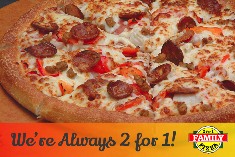 2 For 1 Family Pizza - Photo 1