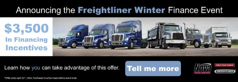 Announcing our Freightliner Winter Finance Event - Nova Truck Centres