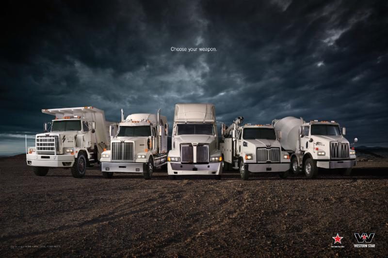 Western Star Family line-up of trucks. What will your weapon be?