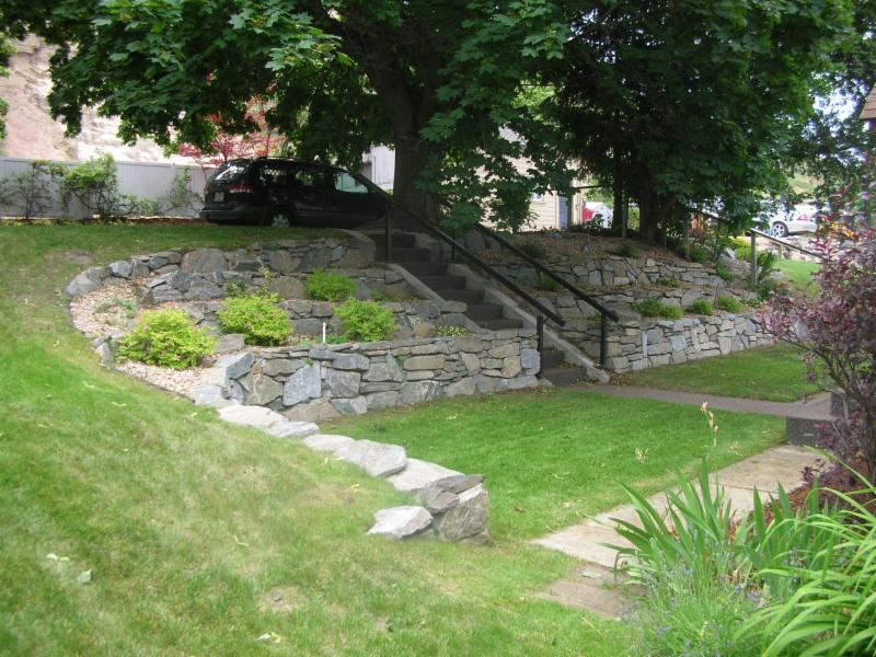 September 2016 home landscape design for Landscaping rocks vernon bc