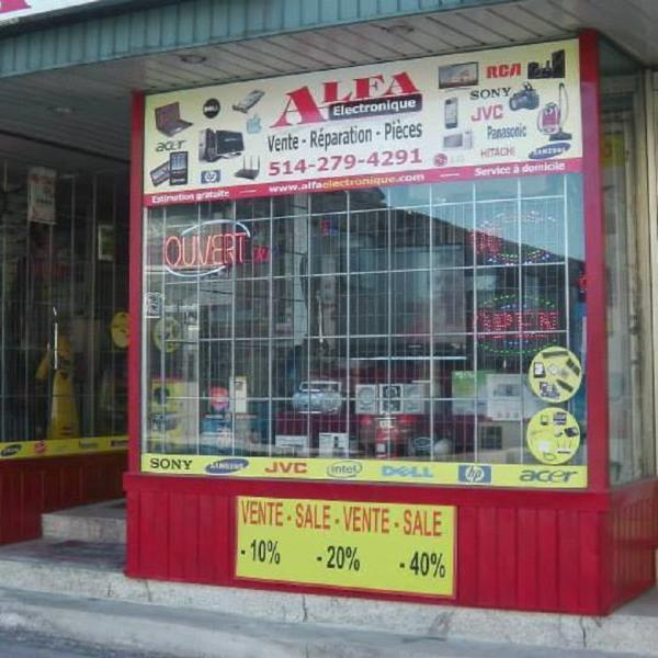 Alfa Electronique     7438, rue Saint-Hubert, Montréal QC, H2R 2N3     514-279-4291